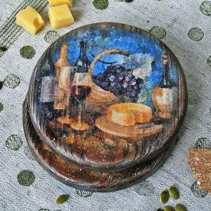 Набор подставок Вино и сыр