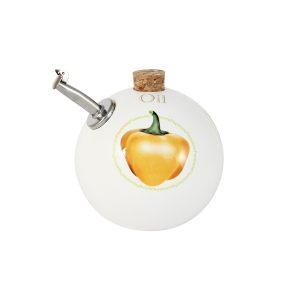 Бутылка для масла Ceramiche Viva (круглая) Томаты и перцы