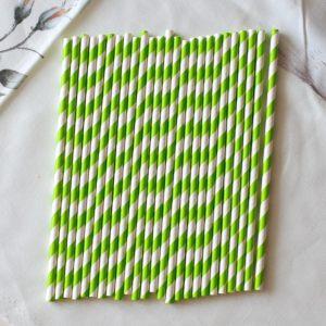 Набор трубочек для напитков, зеленая диагональ