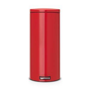 Бак для мусора Brabantia с педалью Silent - Passion Red (красный)