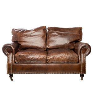 Двухместный диван из натуральной кожи Maxwell