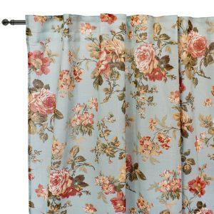 Комплект штор Розы на голубом