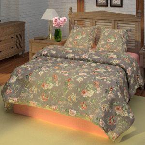 Комплект постельного белья Прохоровская роза в синем