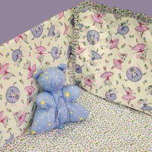 Шторка д/кроватки детская Милые мышата