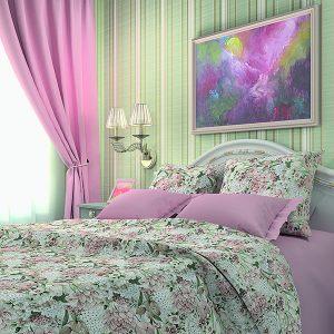 Комплект постельного белья Цветы