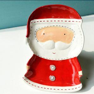Дед Мороз - блюдо для печенья