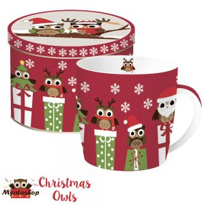 Кружка Совята Christmas owls
