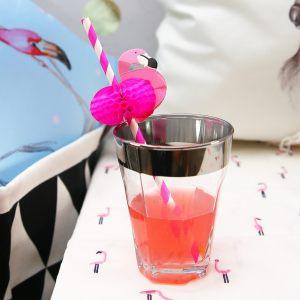 Трубочки для напитков с фламинго