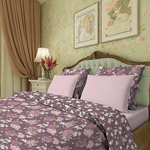 Комплект постельного белья Гортензия в темном