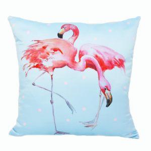 Двухсторонняя подушка Фламинго
