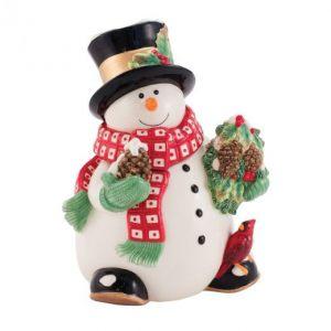 Банка для печенья Снеговик в лесу