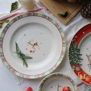 Тарелка обеденная Christmas Jubilee Chevron 27 см
