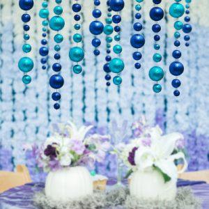 Гирлянда новогодняя голубо-синяя