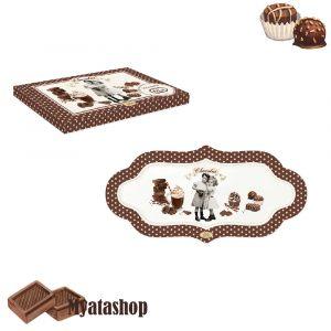 Прямоугольное блюдо Vintage chocolate