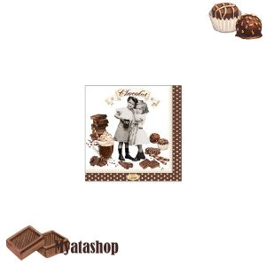 Бумажные салфетки Vintage chocolate