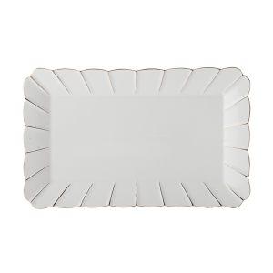 Блюдо прямоугольное (белое) Свежее дыхание в подарочной упаковке