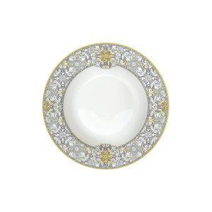 Тарелка суповая Майолика (серая)