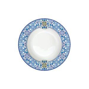 Тарелка суповая Майолика (голубая)