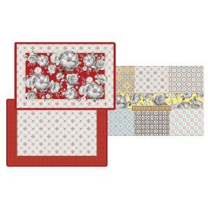Набор из 4-х салфеток под горячее Цветовая палитра (красная)