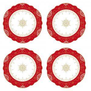 Набор из 4х десертных тарелок Hermitage 20 см