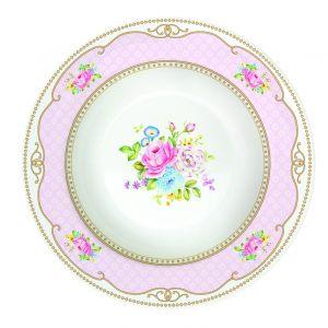 Суповая тарелка Bouquet pink 21,5 см