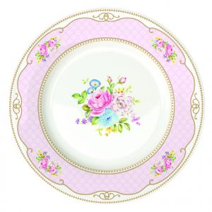 Обеденная тарелка Bouquet pink 26 см