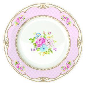 Набор из 4х десертных тарелок Bouquet pink 19 см