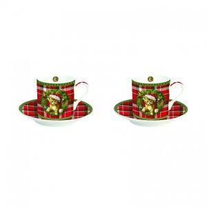 Набор: 2 кофейные чашки и блюдца  Christmas time 75 мл (второй)
