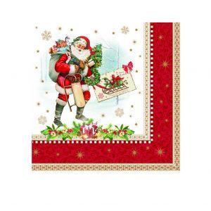 Салфетки бумажные Vintage christmas 33 см