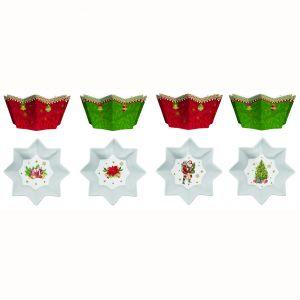 Набор из 4 фарфоровых чашек Vintage christmas