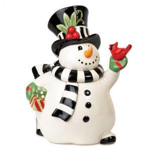 """Банка для печенья """"Веселый снеговик"""" 30 см"""