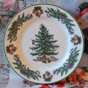 Тарелка десертная Garland 19 см зеленая кайма