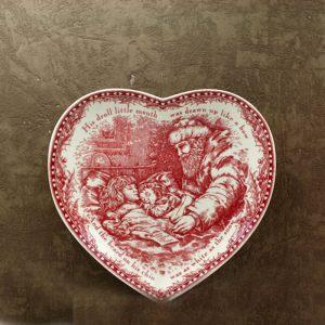 Тарелка сердечком 22 см