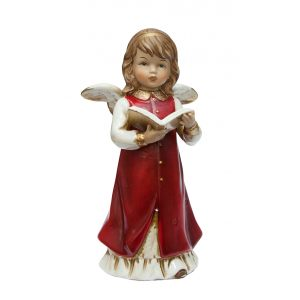 Ангел с книгой (красн) 17,5 см