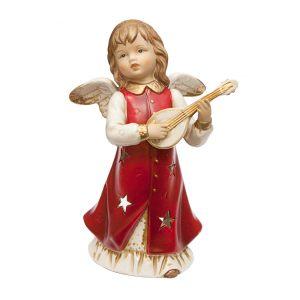 Подсвечник Ангел с инструментом (красн) 20 см
