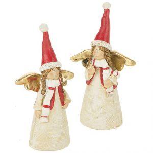 Елочная игрушка Ангелочки в красных колпачках