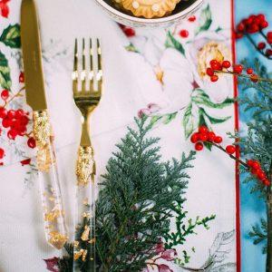 Салатник Christmas holly