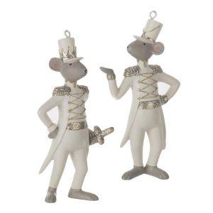 Елочная игрушка Мыши белые хвосты