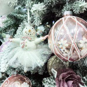 Новогодняя статуэтка Снеговичок в ассортименте