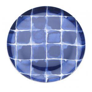 Сервировочная тарелка в клетку INDIGO 21 см