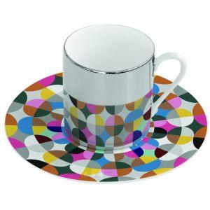 Зеркальная кофейная пара розовая Mirrored coffe