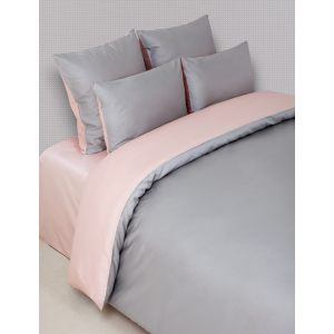 """Комплект постельного белья """"DUETTO 6"""" серый / розовый"""