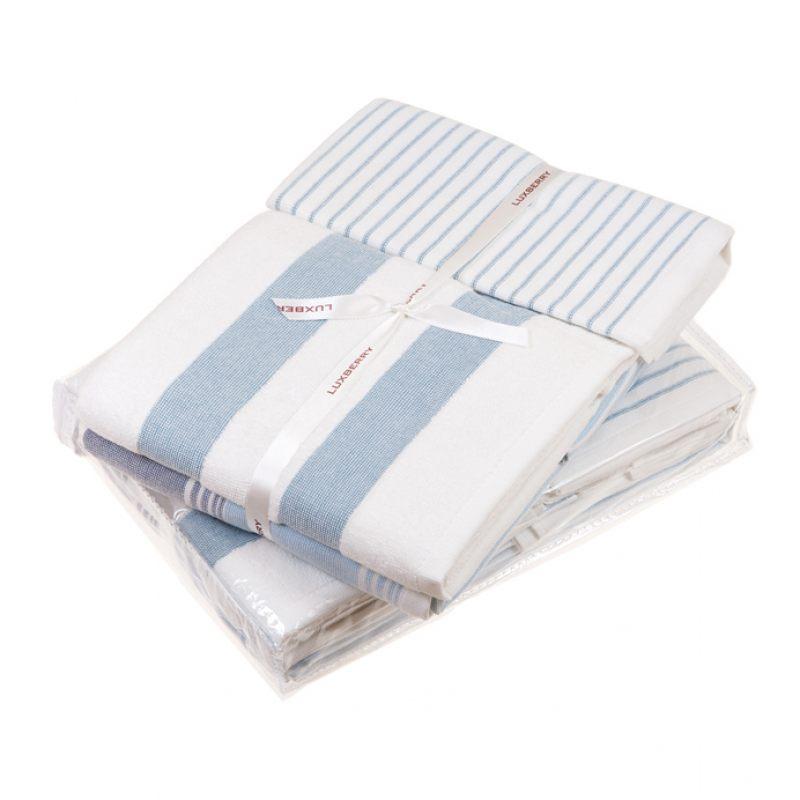 Комплект из 3х полотенец COTTAGE голубой